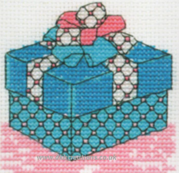 Large Present Mini Cross Stitch Kit